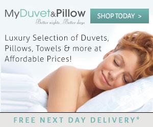 duvet and pillow
