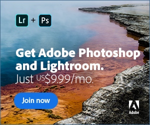 Adobe Photography Plan -Photoshop and Lightroom for only $9.99 a Month